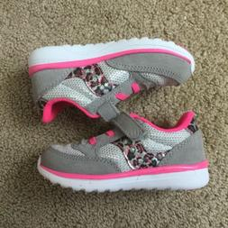 Saucony Gray & Pink Leopard Shoe Baby Toddler Girl Size 7