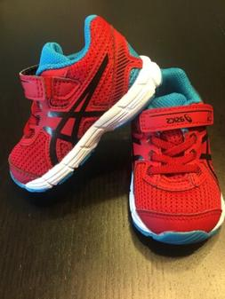 Asics GT-1000 C621N Red & Blue Toddler Boys Shoes Size 4 NEW