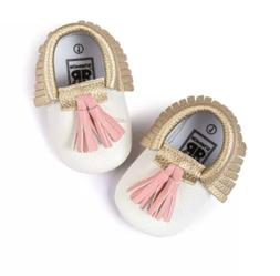 Hot Cute Baby Boy Girl Toddler PU Leather Tassel Moccasins S