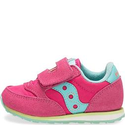 Saucony Girls Baby Jazz HL Sneaker, Pink/Trq/LM, 9 M US Todd