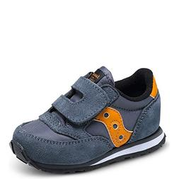 Saucony Jazz Hook & Loop Sneaker , Grey/Orange, 11 M US Litt