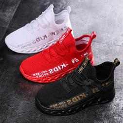Kids Boys Youth Athletic Sneakers Casual Sports Walking Runn