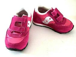 Saucony Kids Toddler Baby Leather Pink White Shoes Sneakers