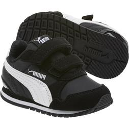 PUMA Kids Vista V 36954101 Black White Baby Toddler Infant B