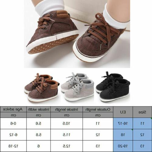 0-18M Baby Toddler Soft Bottom Boots