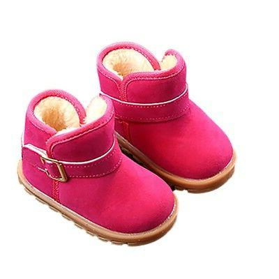 1-6T Baby Girls Sole Crib Shoes Snow US