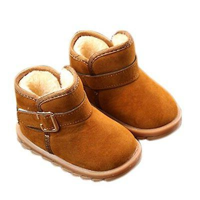 1-6T Girls Sole Crib Shoes Toddler Snow Boots
