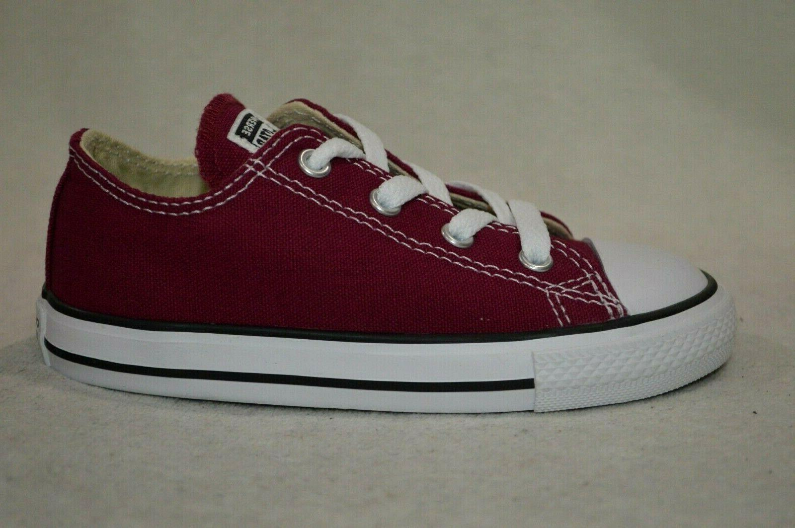 Converse® All OX Burgundy Boy/Girl's Shoes-Size 9/10
