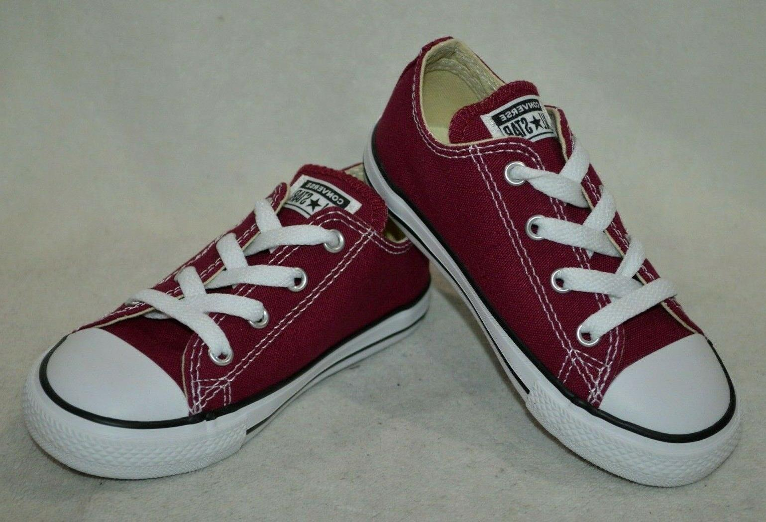 all star ct ox maroon burgundy toddler
