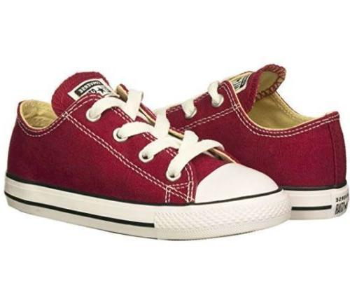 all star low chucks infant toddler maroon