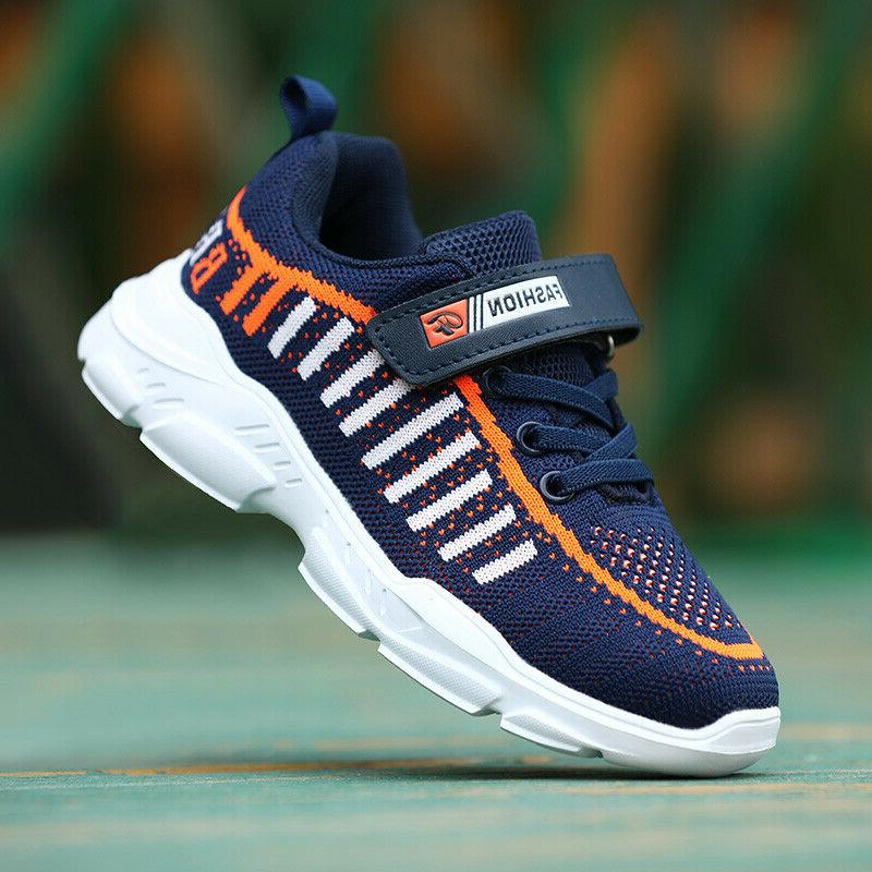 Althletic Running Trainers Boys Girls Comfort Sports Mesh Sneakers