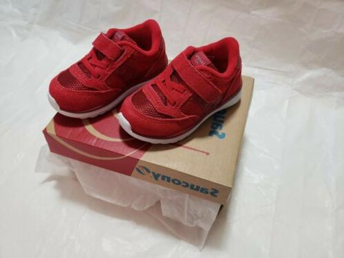 Saucony Baby Boys Jazz Lite Sneaker, Red, US Size 4M Toddler