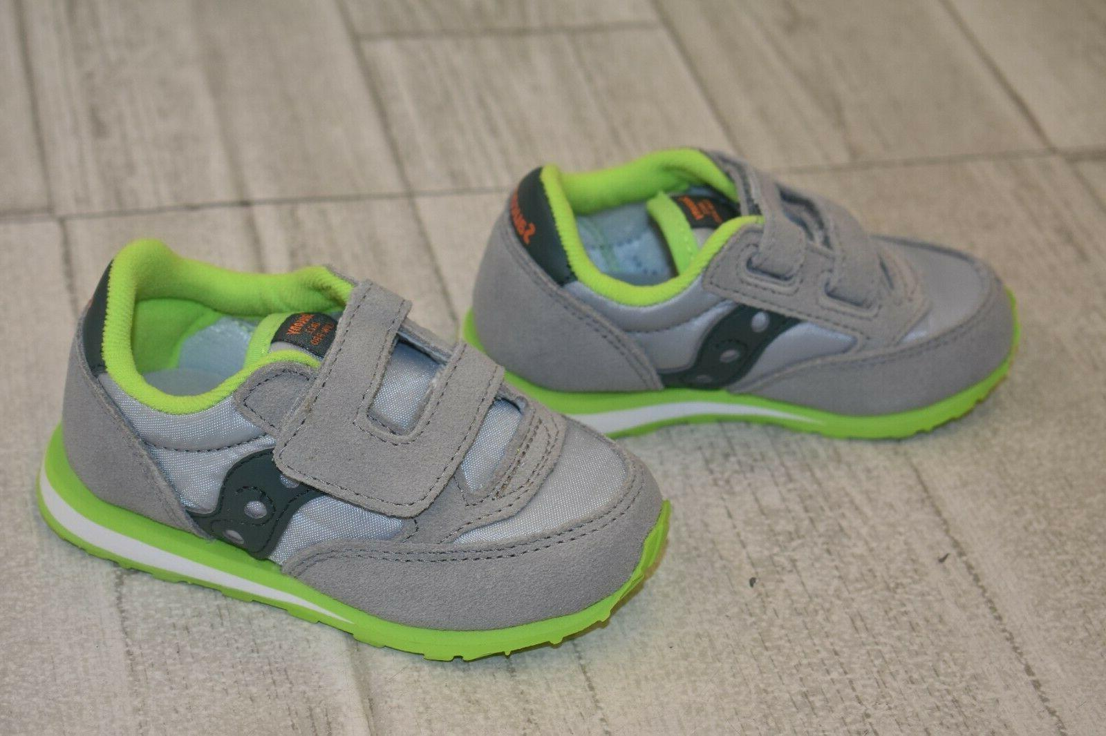 **Saucony Sneaker - Toddler Size 6M, Grey/Lime