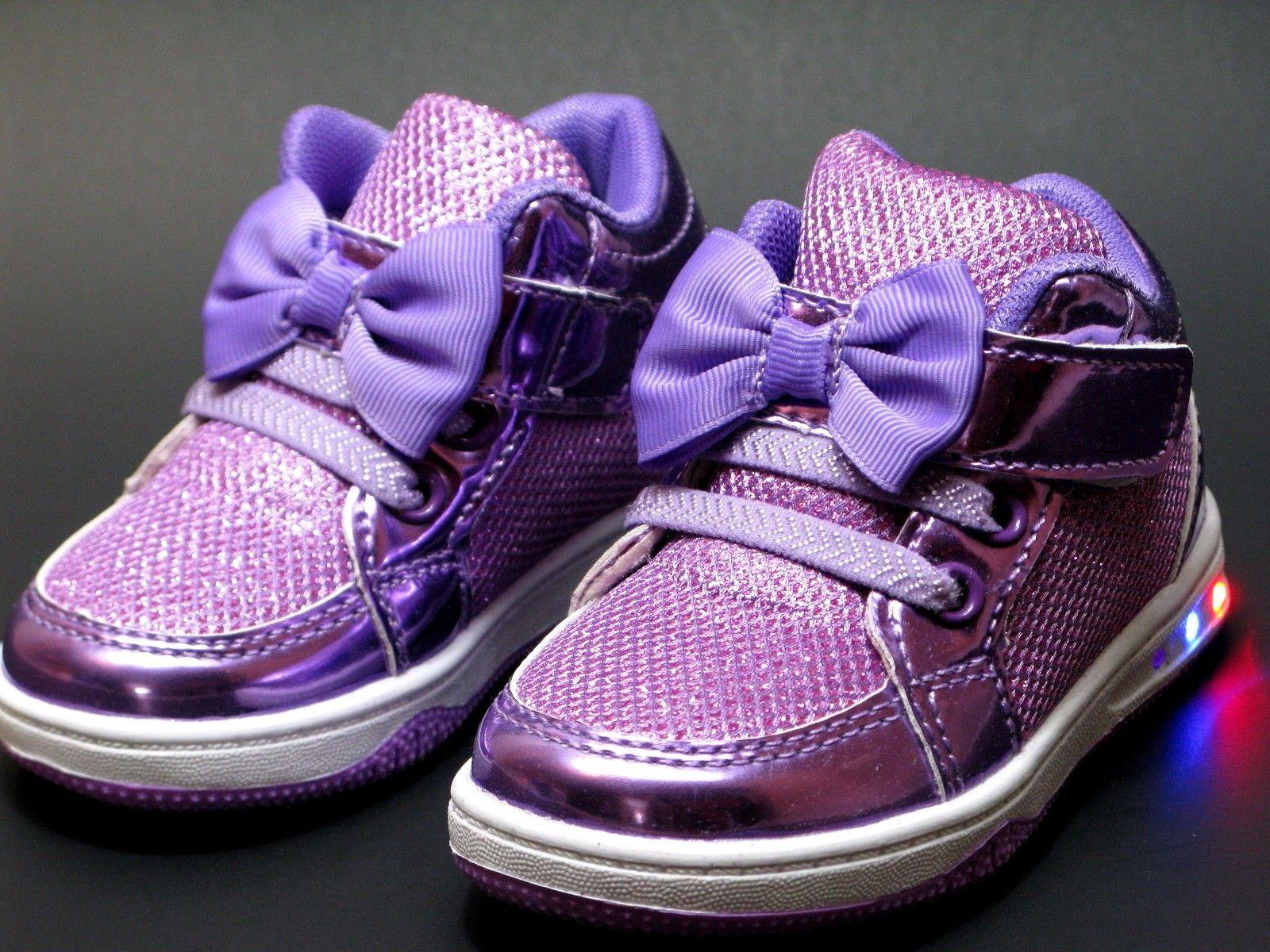 Baby Girls Light LED Easy Strap Casual Sneakers