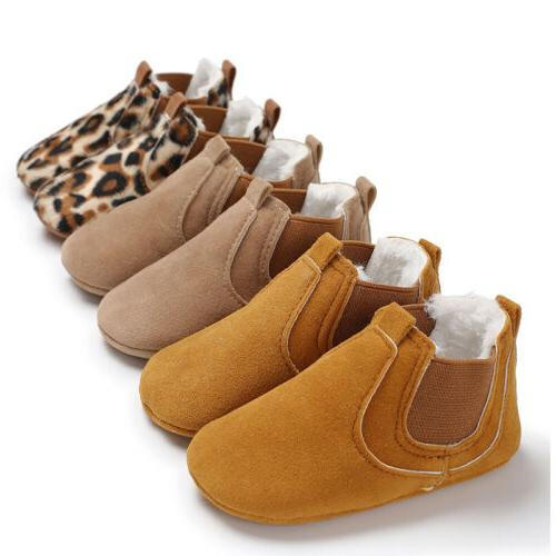 Baby Toddler Soft Leather Anti-slip Shoes Infant Boy Girl