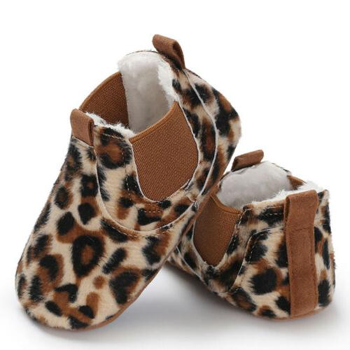 Baby Toddler Soft Sole Leather Anti-slip Shoes Infant Boy Girl Comfortabr