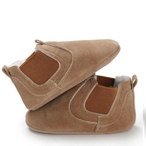 Baby Sole Leather Infant Boy Girl Comfortabr Shoes