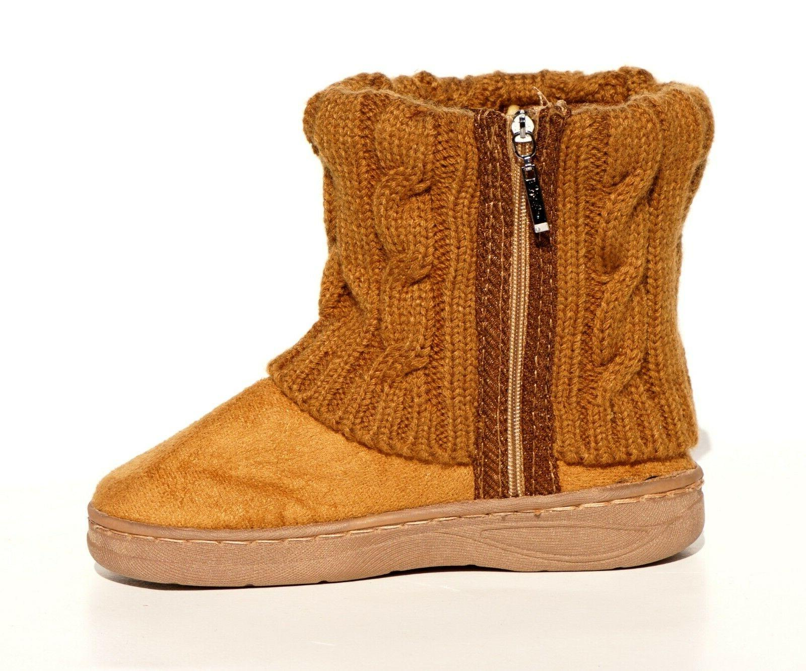 Baby Winter Suede Rhinestone Boots Stitching Warm Shoes