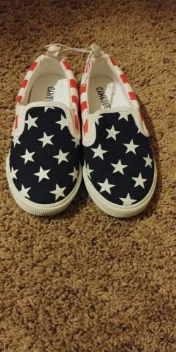 gymboree boy shoes american flag toddler size 10