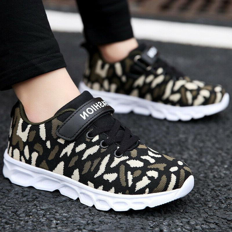 Boys Running Camouflage Casual Kids Athletic Tennis