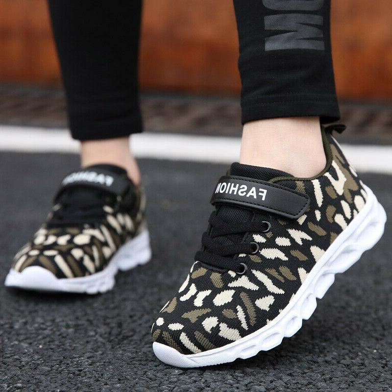Boys Running Camouflage Casual Walking Sneakers Athletic Tennis