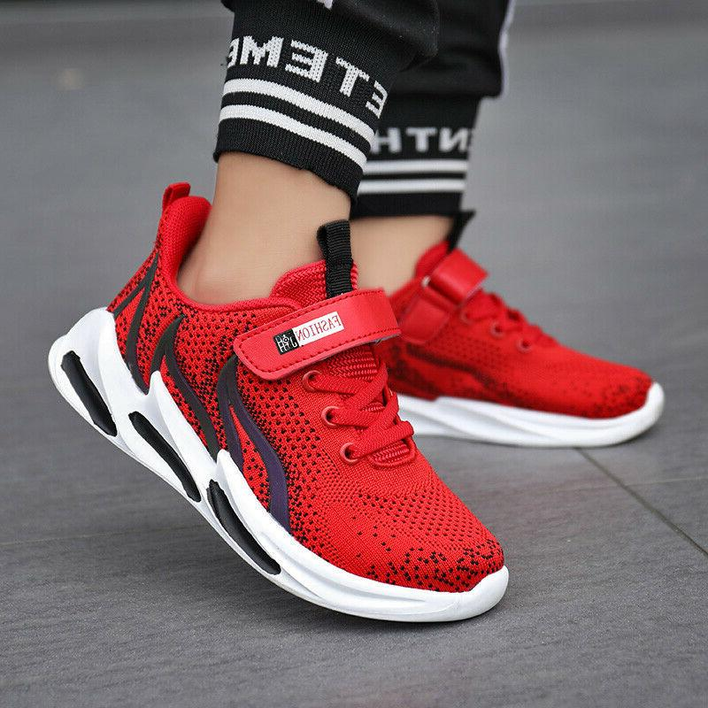 Boys Running Tennis Kids Sneakers Outdoor Athletic Shoes