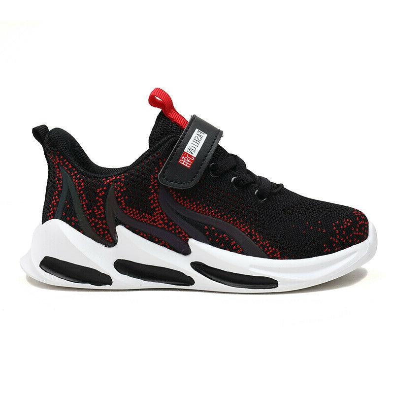 Boys Tennis Kids Sneakers Athletic Fire