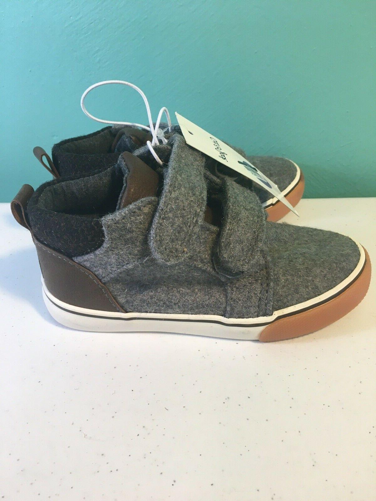 Cat & Toddler Boy Ankle Shoes Gray Sneakers