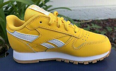 Reebok Classic Yellow Toddler Shoes Size