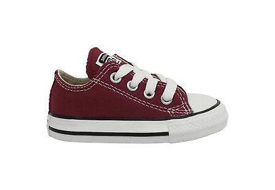 CONVERSE Ox Maroon Red Infant Toddler Shoes