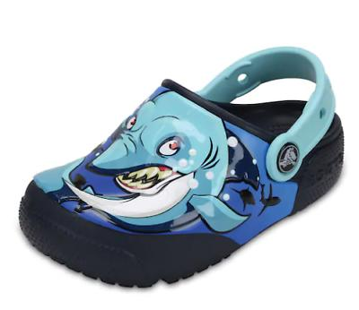 fun lab light up shark eyes clogs