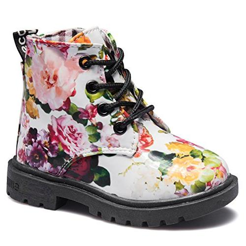 girls fashion winter warm ankle boots zipper