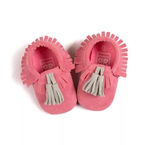 Hot Cute Girl Toddler Tassel Moccasins Soft Sole