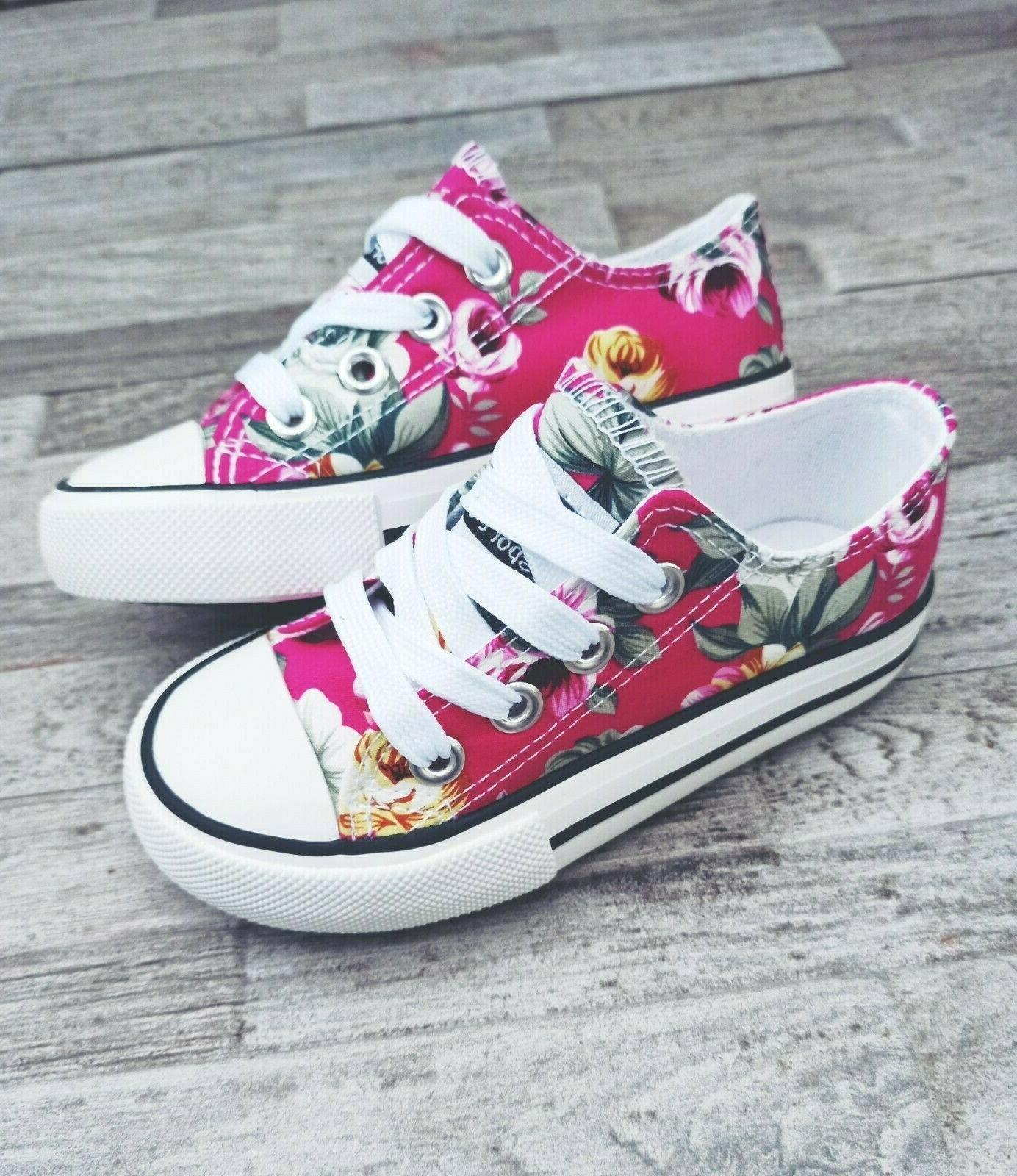 infant toddler girls pink canvas tennis shoes