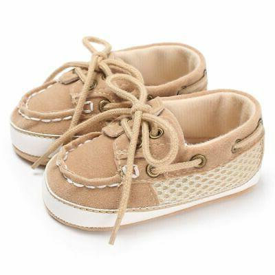 Infant Newborn Sneakers Baby Sole Crib Prewalker