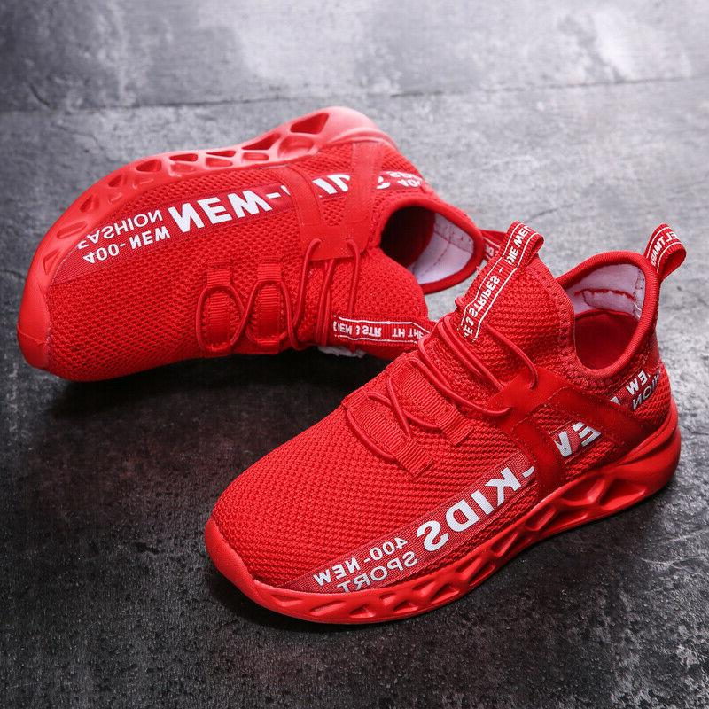 Kids Boys Athletic Sneakers Casual Running Shoes