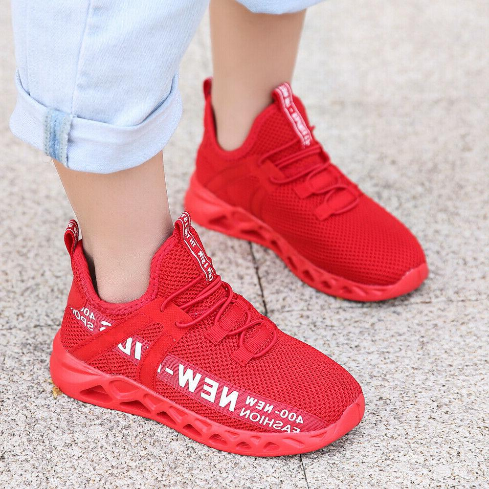 Kids Youth Athletic Sneakers Sports Running Shoes