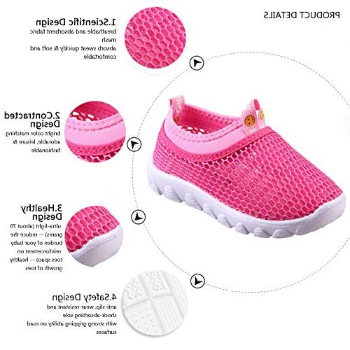 CIOR Kids Casual Shoes Breathable Walking Running Toddler/Little Kid/Big Kid,1106pink,22 …