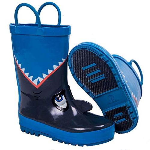 AMAWEI Rain Boots for Boys Baby/Toddler/Little Kids/Big Shoes