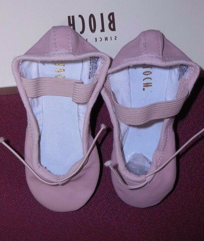 """Bloch leather full sole ballet all NARROW """"A"""" width 205G"""