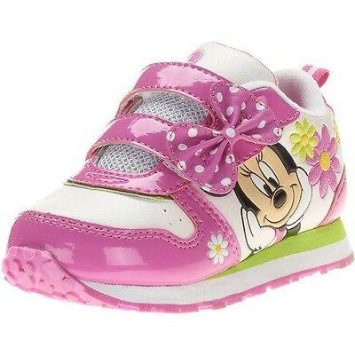 Disney Minnie Mouse Bow Sneakers Shoes Toddler Girl Size 9 1