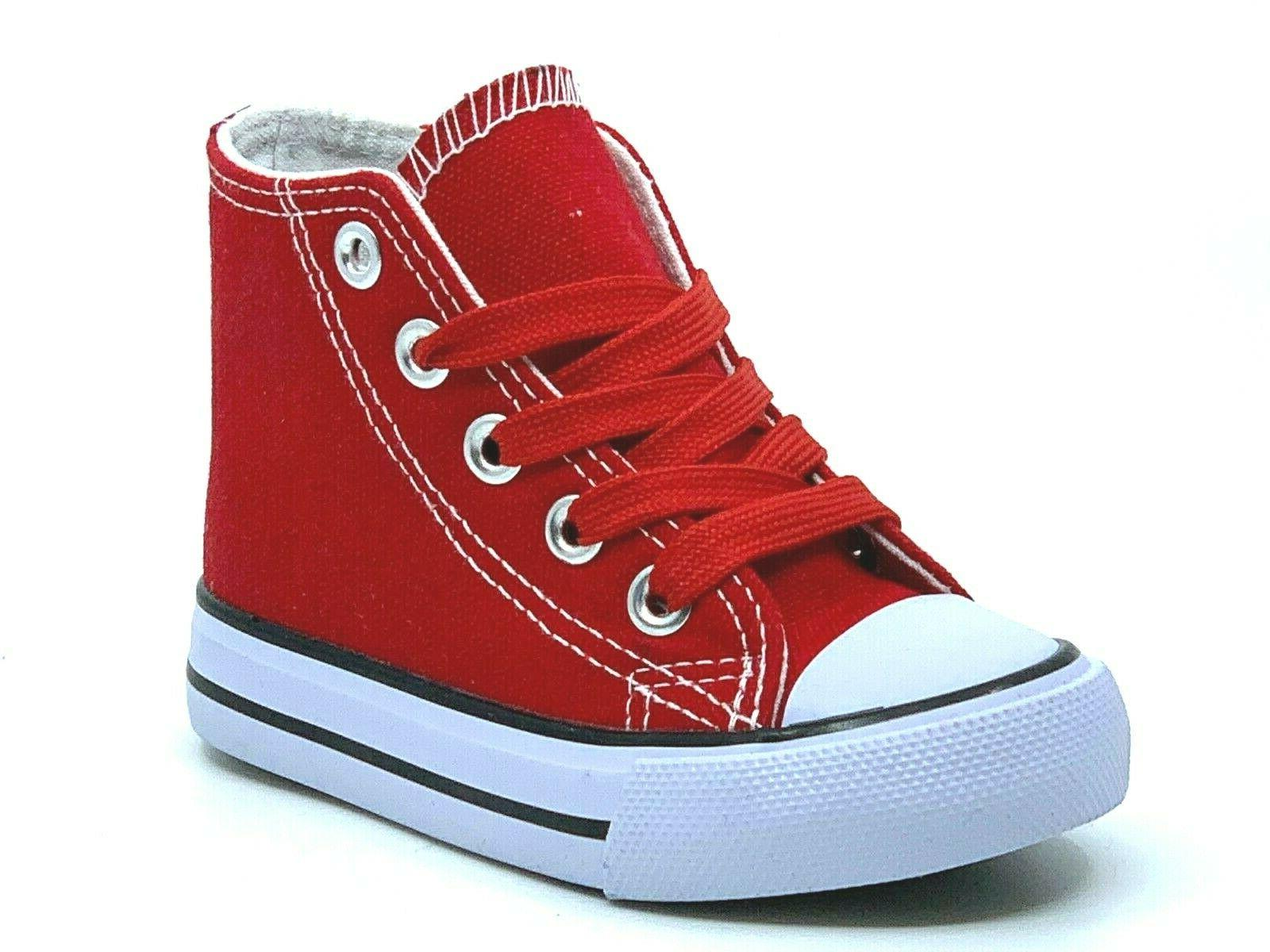 New Lace Up Top Girls Boys Shoes Sneakers