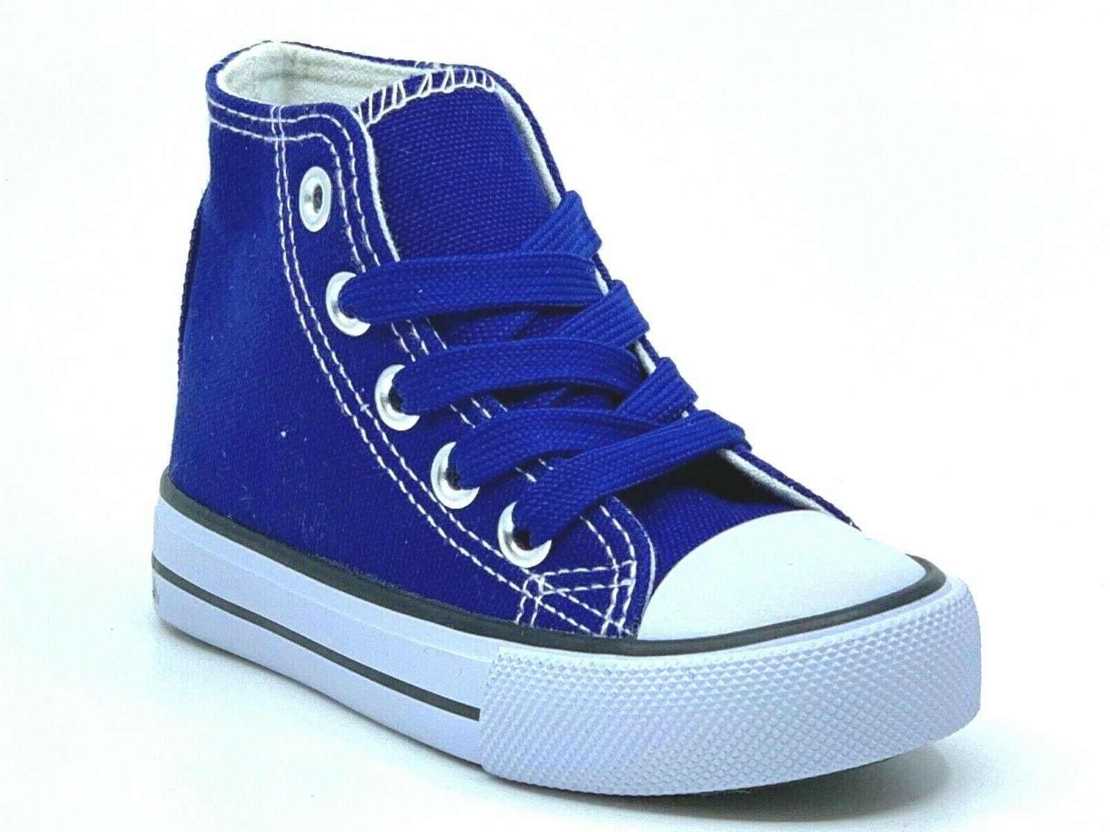 New Up High Top Toddler Boys Canvas Sneakers
