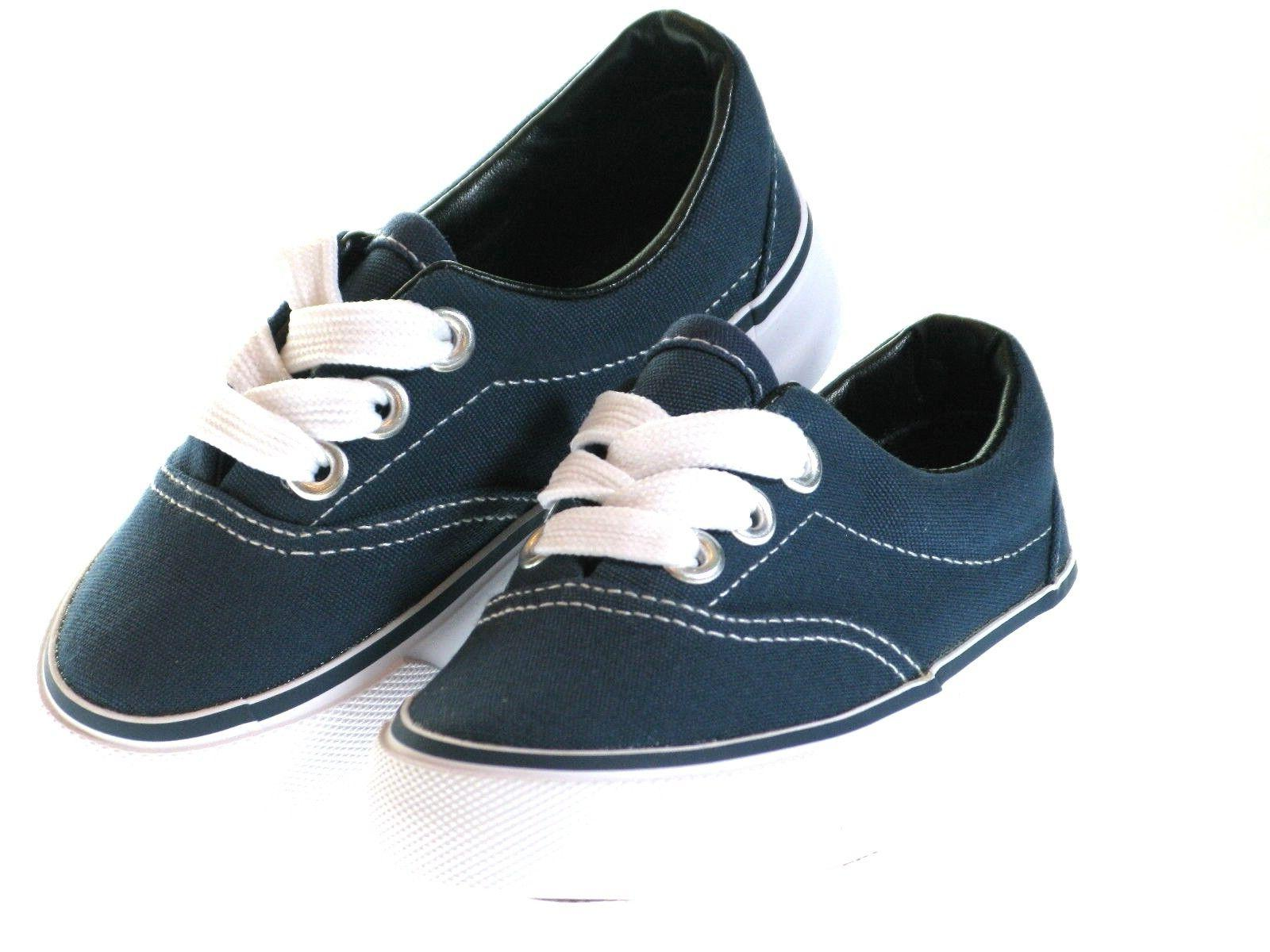 New Lace Up Top Canvas Boys Or SZ-4-9