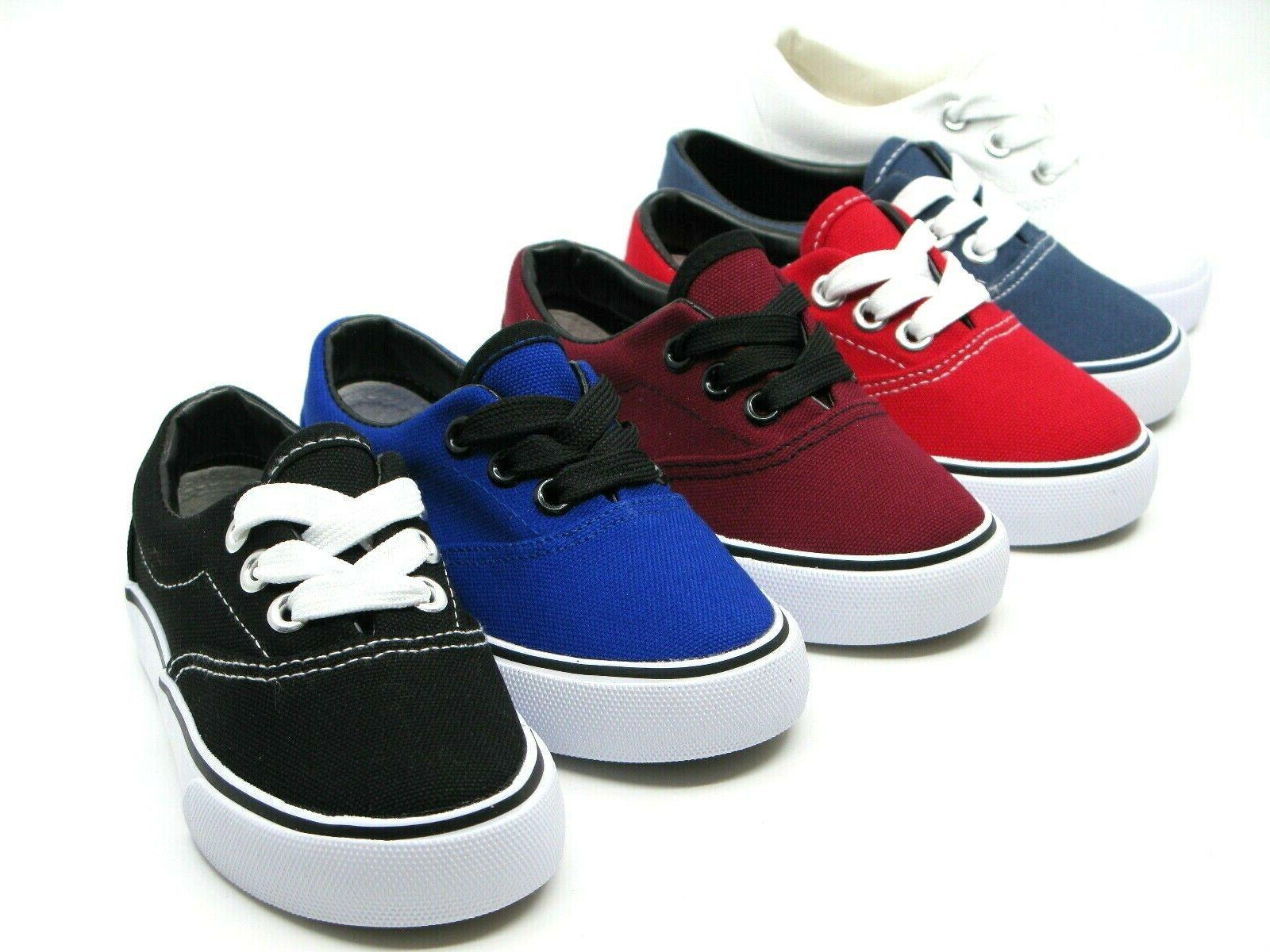 new lace up low top canvas toddler
