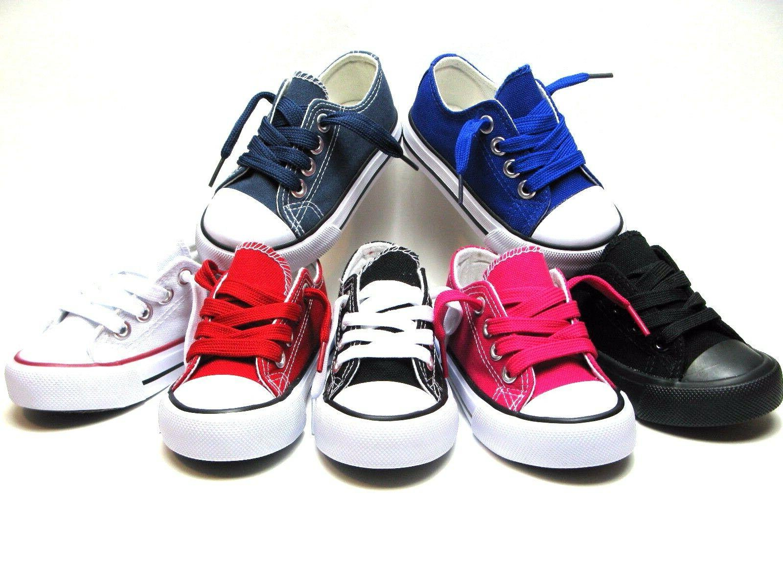 New Lace Up Top Girls Canvas Walking Comfort 8