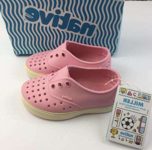 New Native Toddler Girls C7 Miller Shoes Princess Pink / Bon