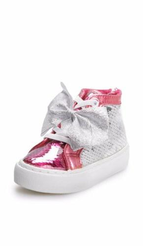 new sequin toddler girls high top shoes