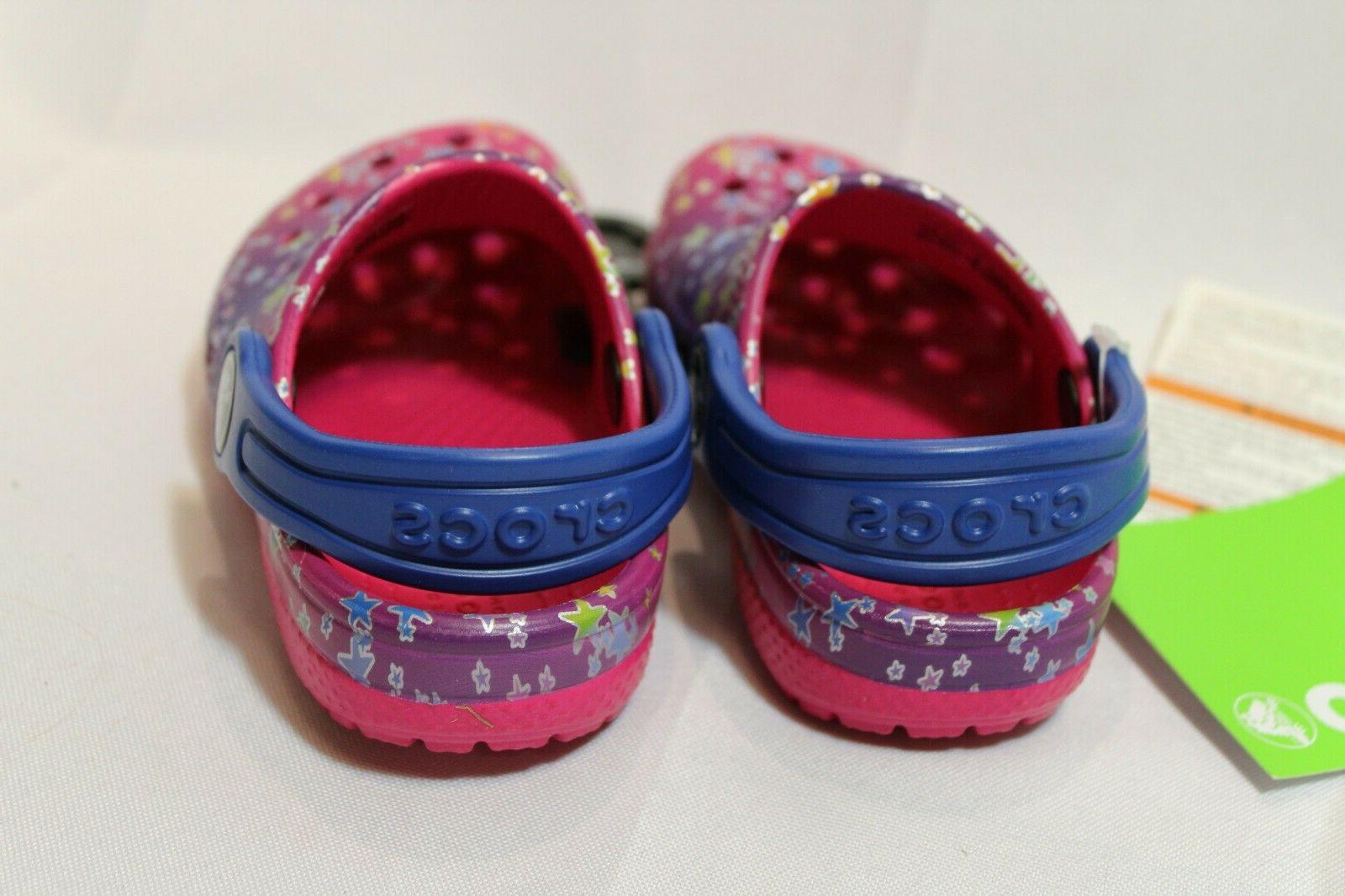 NEW Toddler Girls multi-color star Clogs