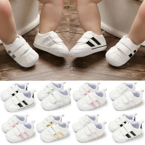 Newborn Baby Crib Shoes Faux Infant Toddler Walker Sneakers